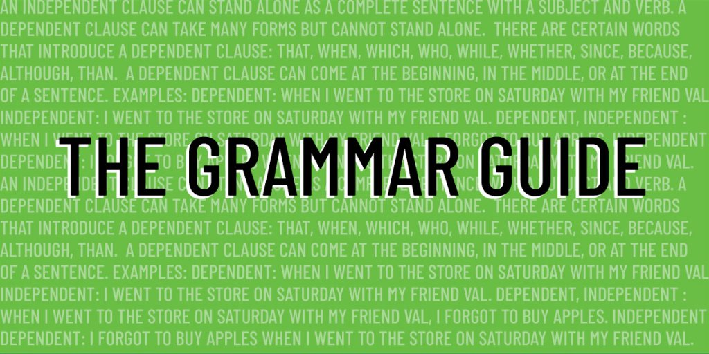 grammar guide act english