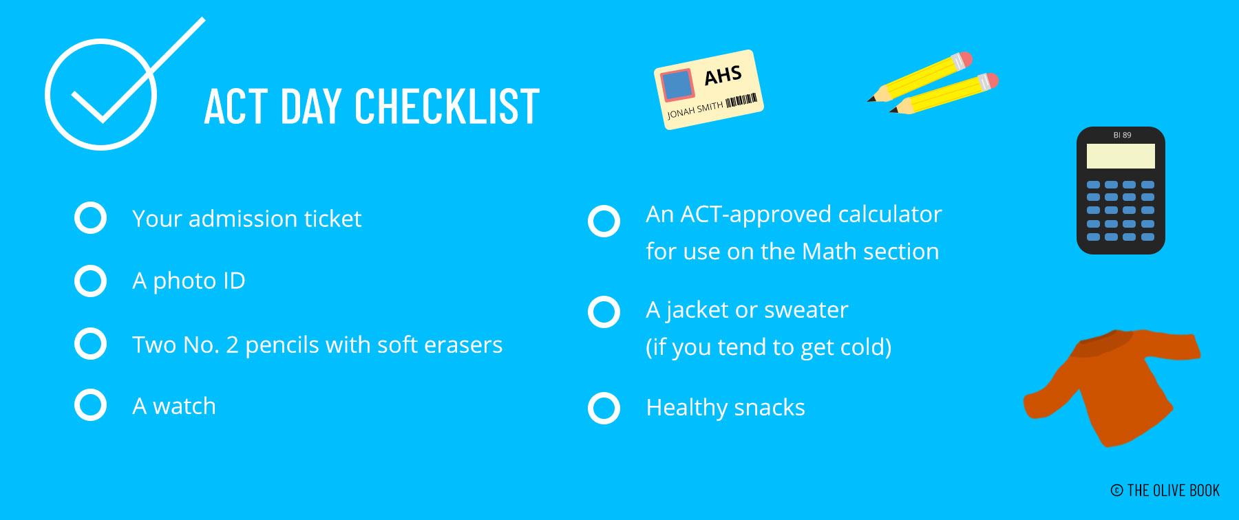 act test day checklist