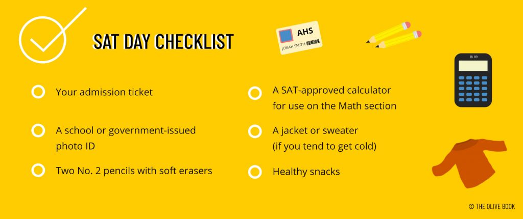 sat test day checklist