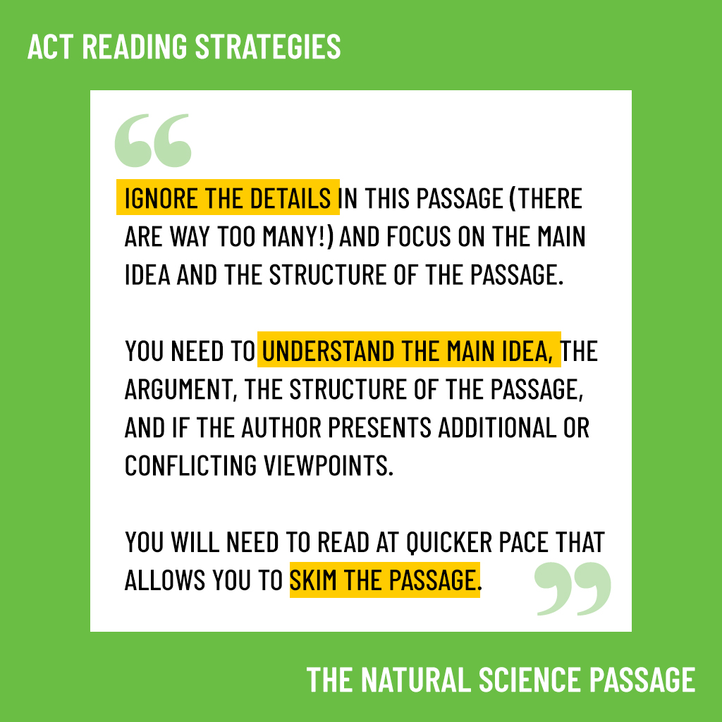 act natural science strategies