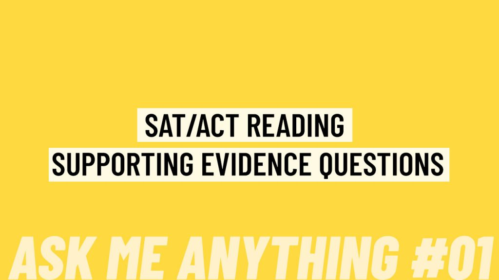 supporting evidence question